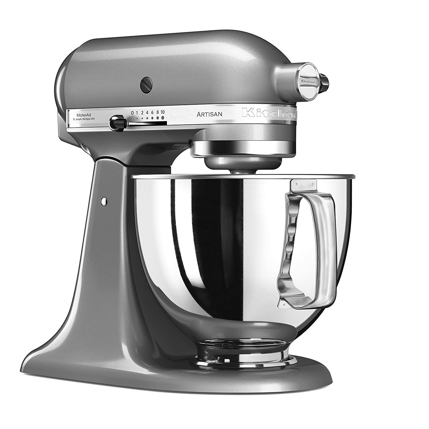 KitchenAid 5KSM125ECU Stand Mixer, 5-Qt, Silver Medallion, 220 Volts (Not for USA - European Cord)
