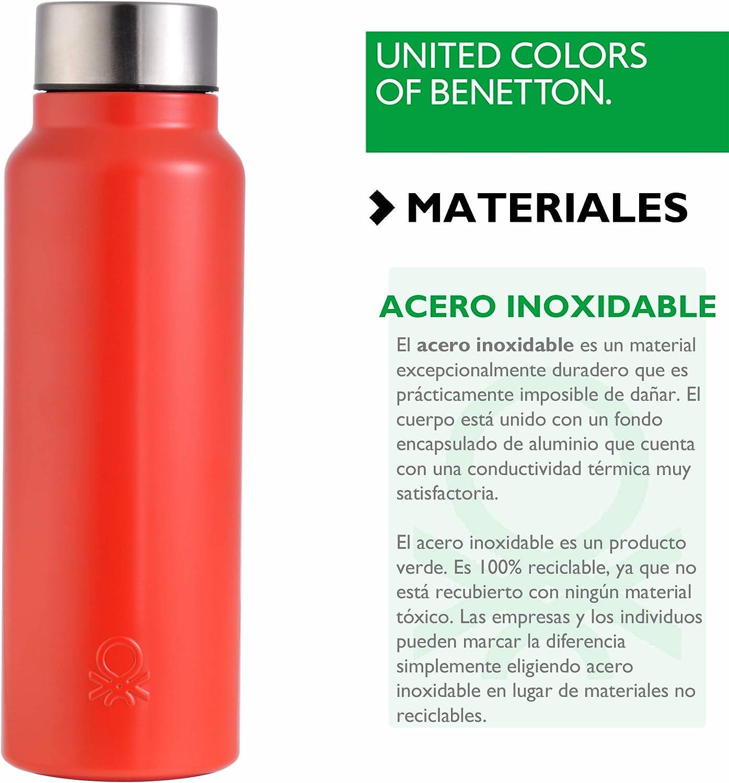 Sillón Descendencia De Dios  UNITED COLORS OF BENETTON. BE097 Botella agua 750ml acero inoxidable rojo  Casa Benetton: Amazon.es: Hogar