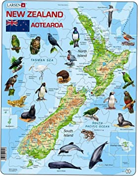 Larsen A4 New Zealand Physical Map English Edition 71 Piece Boxless Tray Frame Jigsaw Puzzle Amazon Co Uk Toys Games