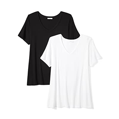 Brand - Daily Ritual Women's Plus Size Jersey Short-Sleeve V-Neck T-Shirt: Clothing