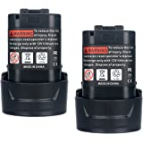 Biswaye 2Pack 3.0Ah 10.8V BL1013 Replacement Battery for Makita 10.8V-12V Max Lithium ion Battery BL1014 194550-6 194551-4 195332-9 CL100DW DF330D FD01ZW