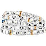 BTF-LIGHTING 5050 RGBW RGB+Warm White (2700K-3000K) 4 Colors in 1 LED 5m 16.4ft 60LEDs/m Multi-Colored LED Tape Lights…
