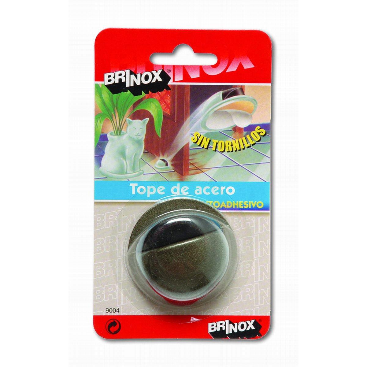/Fermaporta in Acciaio per Porte Adesivo 2.2x4.9x4.9 cm Cromato Opaco Brinox/