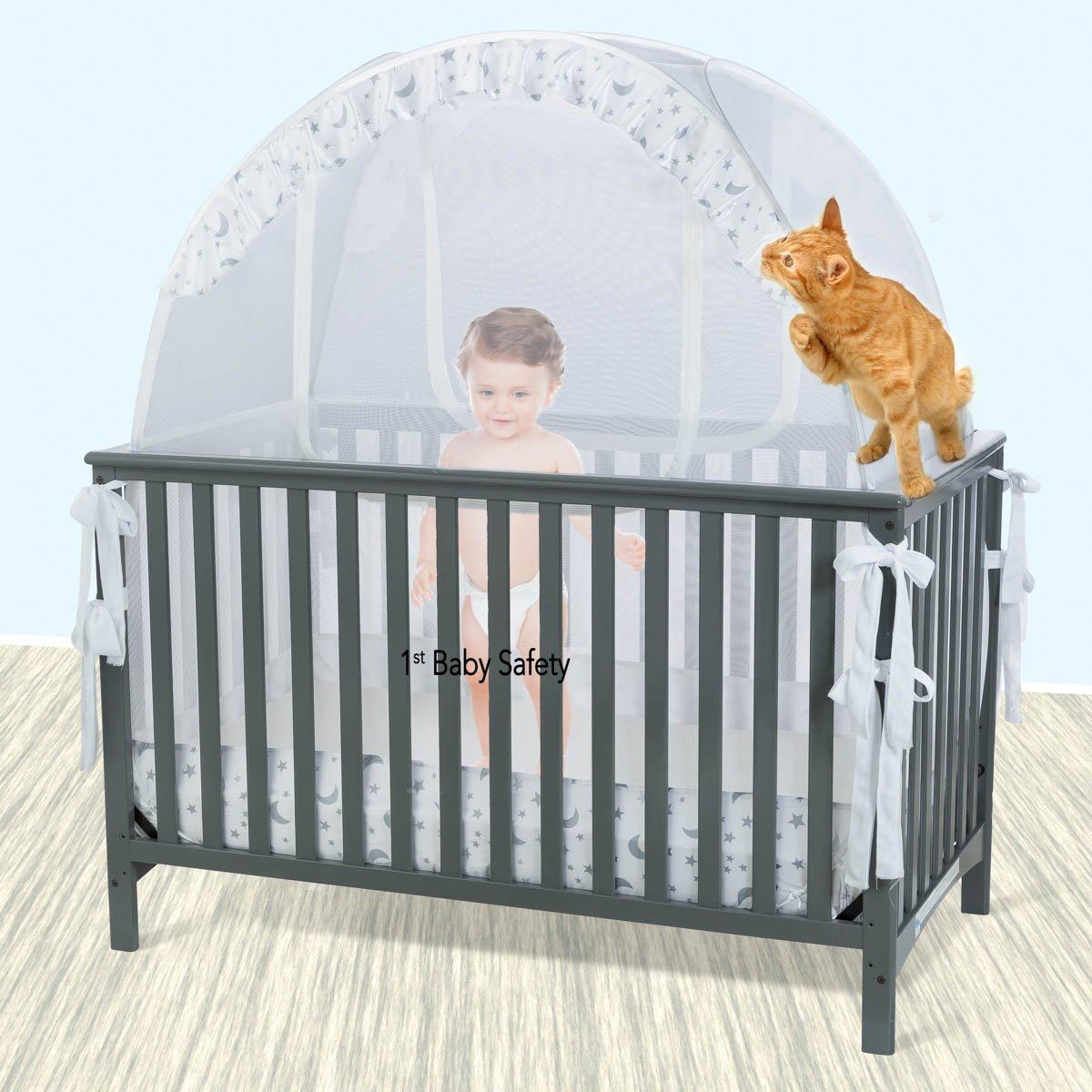 Iron Crib Safety Neutral Baby Nursery With Black Iron