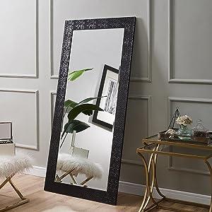 "Naomi Home Mosaic Style Mirror Black/65.5"" x 31.5"""