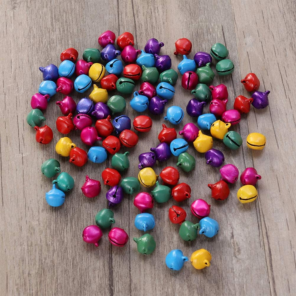 14mm Petite Clochette Bricolage LIOOBO Clochettes de No/ël en Argent 100pcs Cloches Artisanales pour la d/écoration du Festival de No/ël