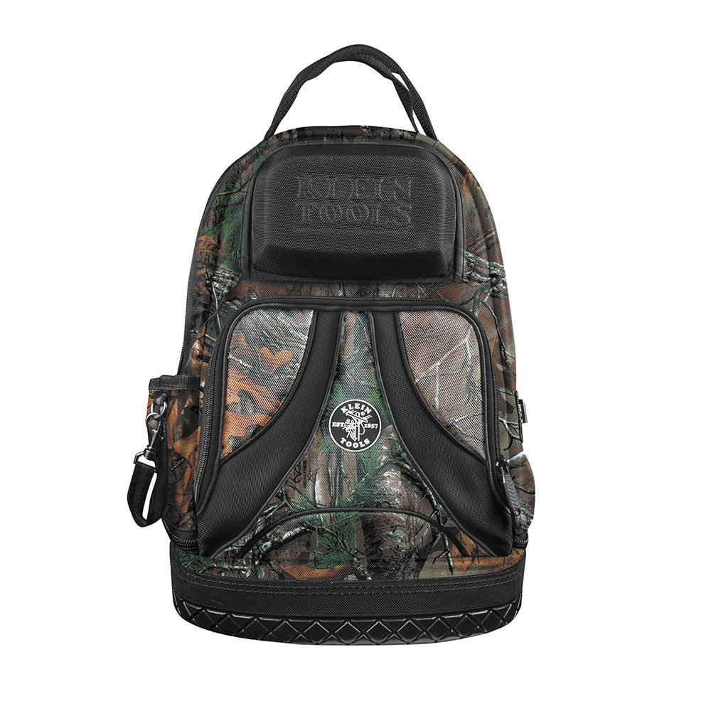 Backpack, Electrician Tool Bag, Camo Tradesman Pro Organizer, 39 Pockets, Molded Base Klein Tools 55421BP14CAMO by Klein Tools