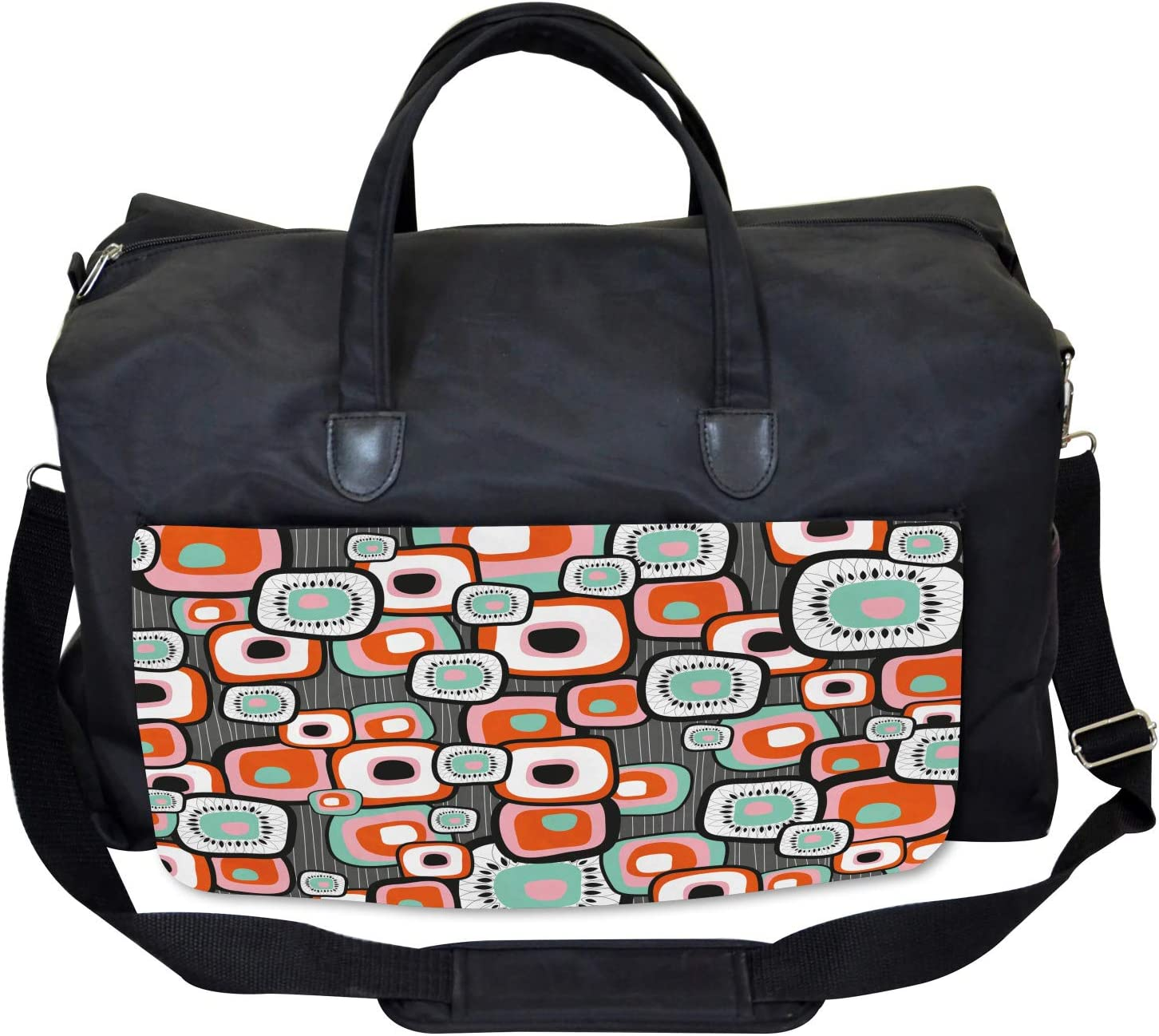 Funk Lava Flowers Forms Ambesonne Vintage Gym Bag Large Weekender Carry-on