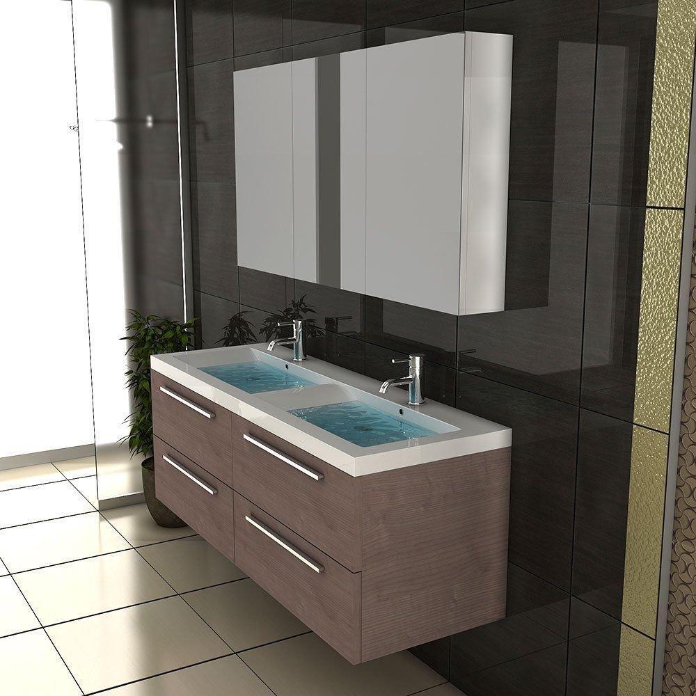 Doppelwaschbecken Mit Unterschrank Und Spiegelschrank Badezimmer Möbel /  Waschbecken / Doppelwaschtisch / Badmöbel .