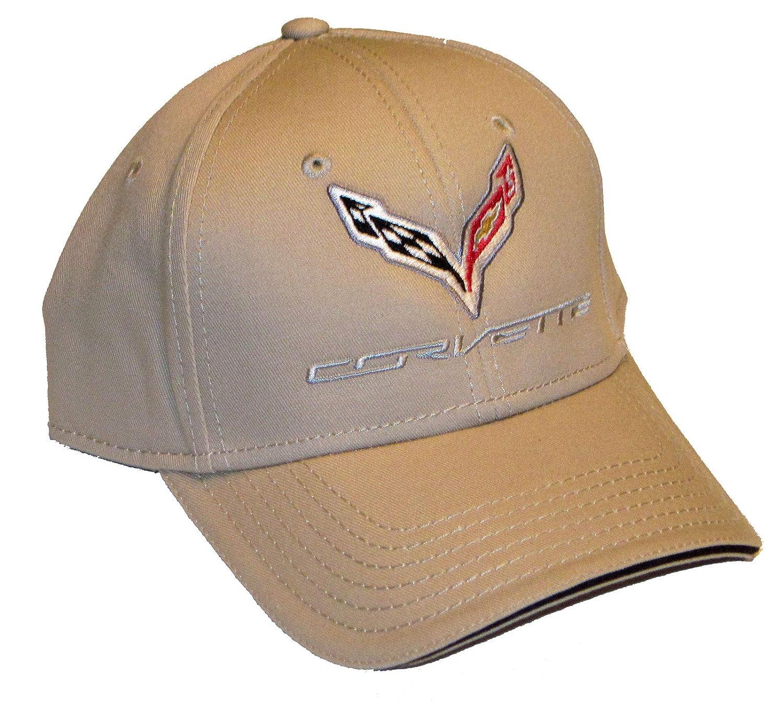 Gregs Automotive Compatible Corvette C7 Hat Cap Chevrolet Chevy Tan Bundle with Driving Style Decal