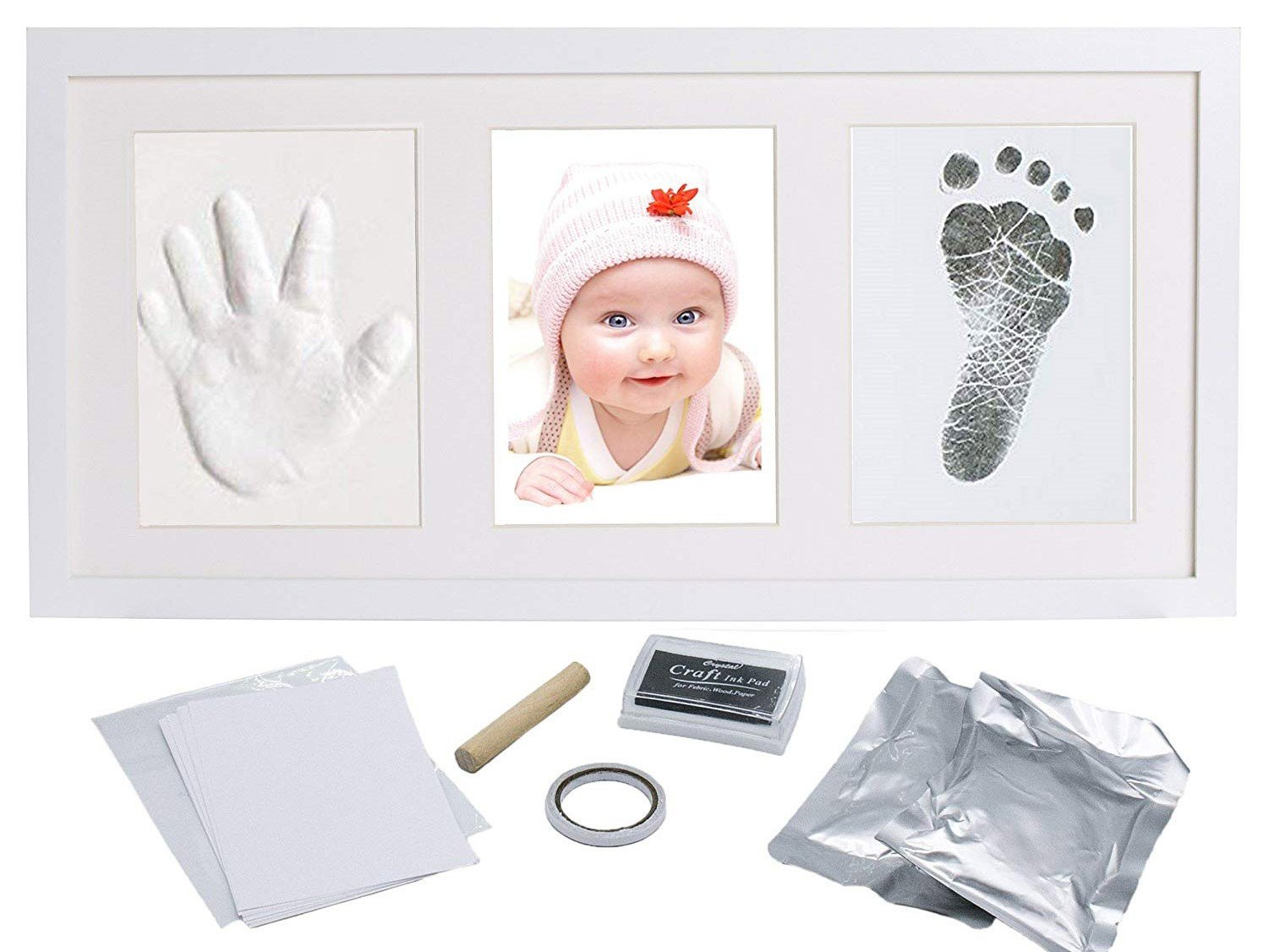Baby Hand and Foot Print Kit - with Clay and Ink - All That You Need to Create That Perfect Baby Hand Print and Foot Print Memory - Best Babyshower Gift for That Perfect Newborn