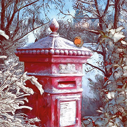 Macmillan Cancer Support Christmas Cards - Pack of 8 - Frosted Postbox Museums & Galleries