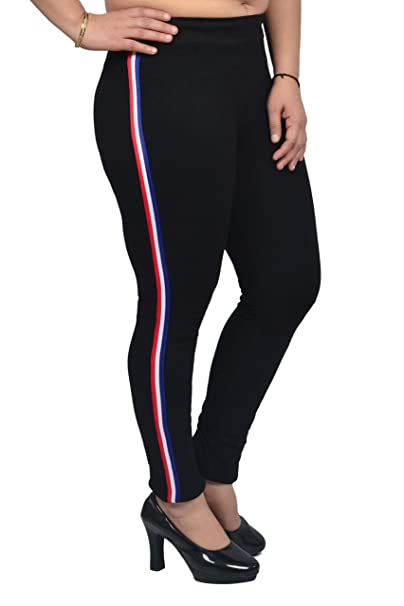 various kinds of hoard as a rare commodity top-rated original Loukut Women's Cotton Stripe Stretchable Jeggings ...
