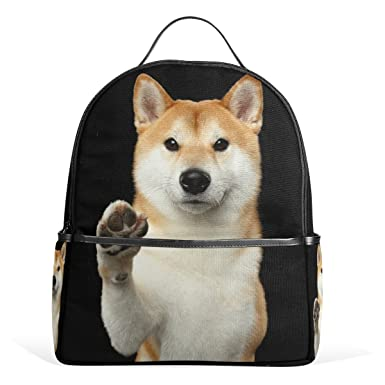 Alaza Cute Shiba Inu Dog Backpack For Boys Girls School Bookbag