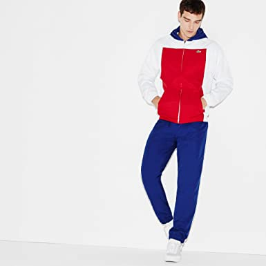 Lacoste Deporte Tenis Color Block - Chándal, Red - Blue - White ...