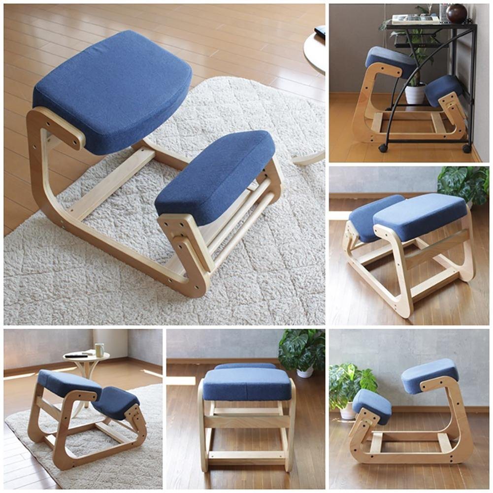 Kneeling chair Children's orthopedic chair Student chair Adult waist health chair Ergonomics Anti-myopia Anti-humpback computer chair Correction sitting posture chair The whole package Solid wood by YMSYMS (Image #2)