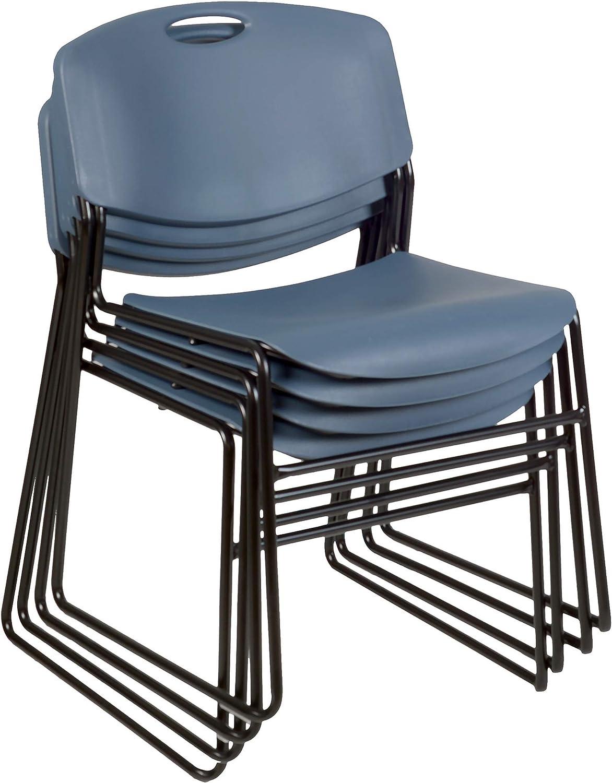 Regency Zeng Stack Chair 4 Pack , Blue