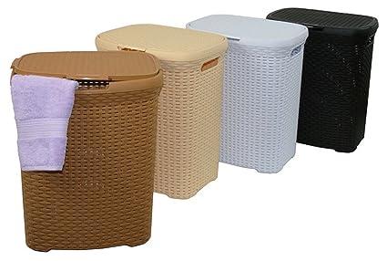 Para la ropa sucia 70L colour blanco con cesto de la ropa sucia de la colada