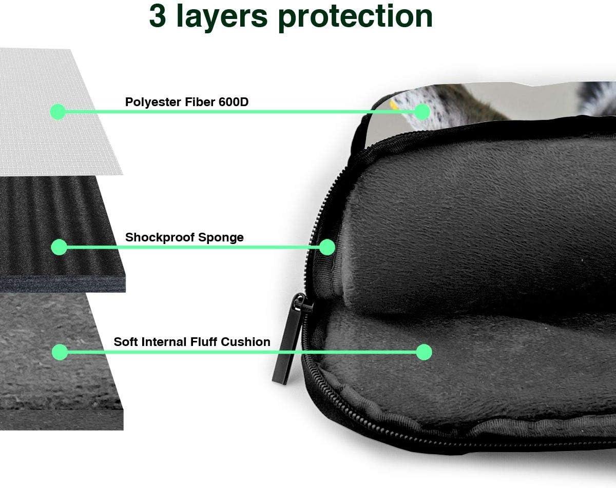 Laptop Shoulder Bag 13 Inch Funny Goat Briefcase Protective Bag