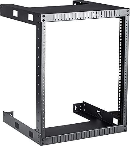 Amazon Com Kenuco 12u Black Wall Mount Open Frame Steel Network Equipment Rack 17 75 Inch Deep Black W19 X D17 75 X H24 5 12u Home Audio Theater