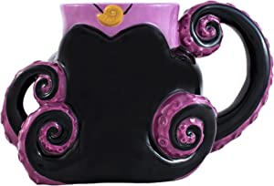Silver Buffalo DV0295 Disney Villain Ursula Tentacles 3D Sculpted Ceramic Mug, 20-ounces, Black