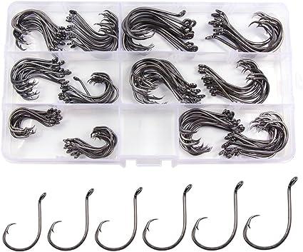 Gamakatsu OCTOPUS Black Hooks 6//0 Qty.6 Hooks Snapper New