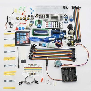 Arduino UNO R3 Kit de iniciación con Todos los sensores, RFID y Caja de plástico