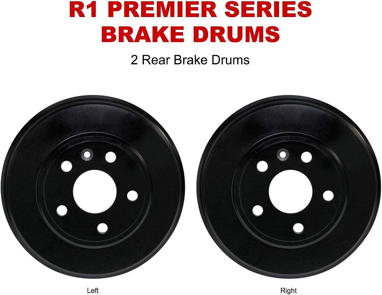 Pack of 2 Rear Back Brake Drum Set Kit For Toyota 2000-2005 Echo