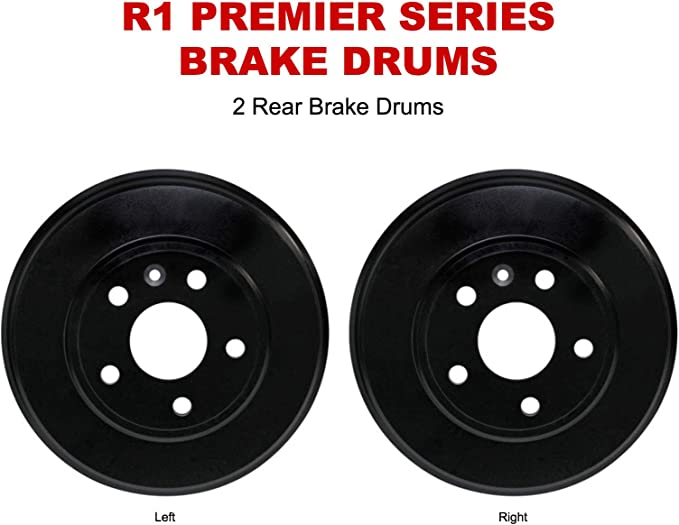 For 1997-2007 Honda CR-V Accord R1 Concepts Brake Drums Rear Pair