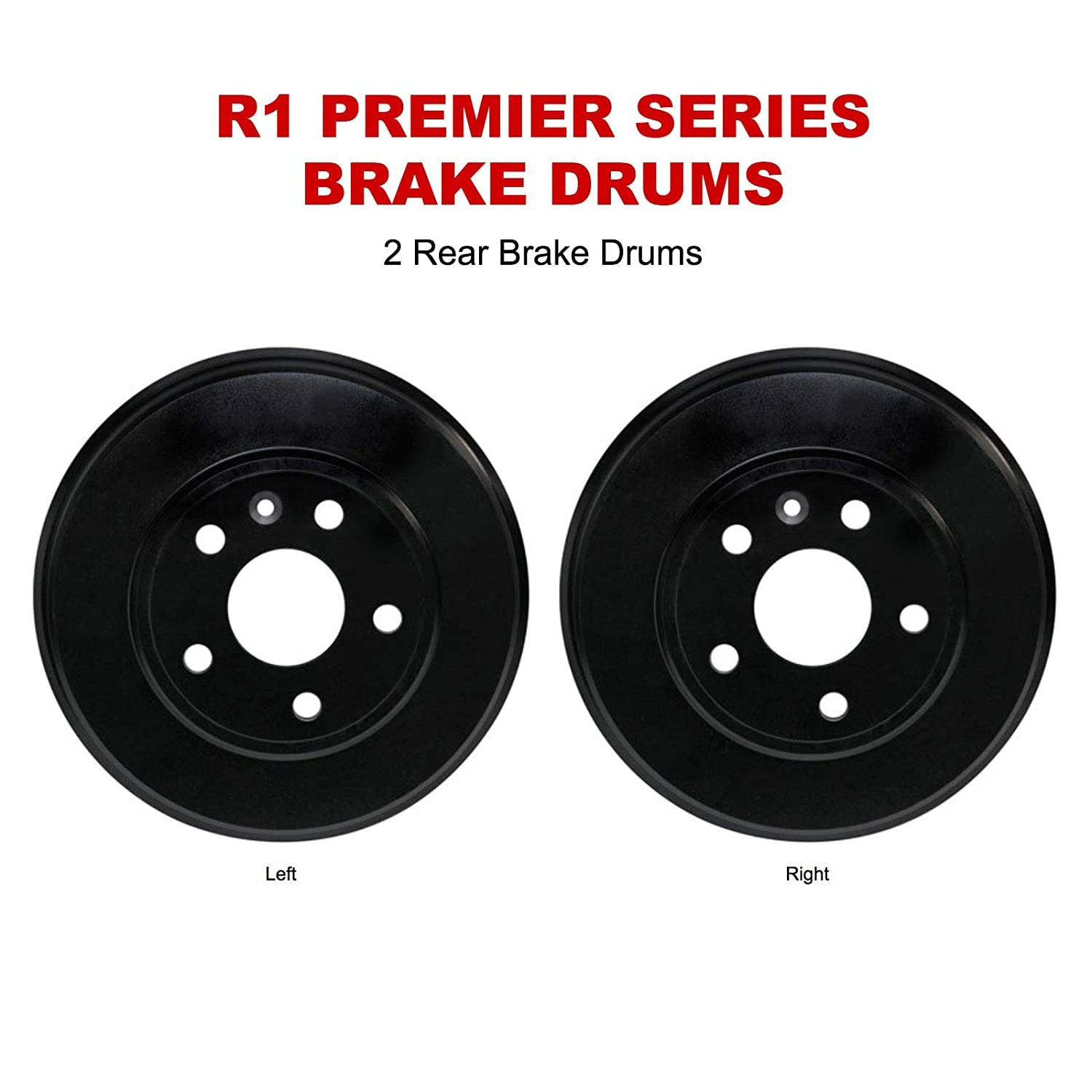 For 2013-2015 Nissan Sentra R1 Concepts Brake Drums Rear Pair