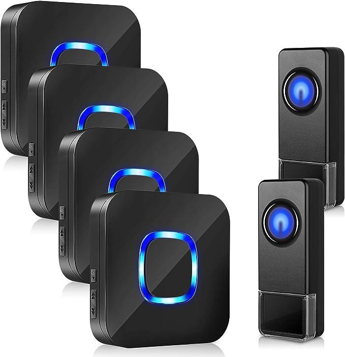 5 Core Wireless Doorbell Waterproof 700 Feet 58 Chimes Door Bell Cordless Kit