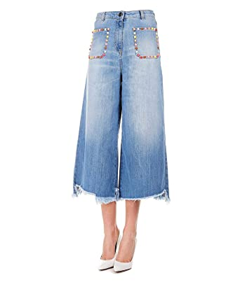 official photos 61e4d 3481a ELISABETTA FRANCHI Women's PJ21S91E2139 Blue Cotton Jeans at ...