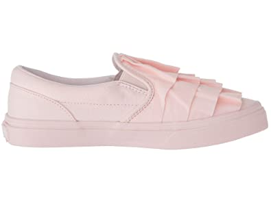 a284187df6ba Vans VN-0A32QIUJ7  Girlss Classic Slip On Ruffle Heavenly Pink Sneakers (3 M
