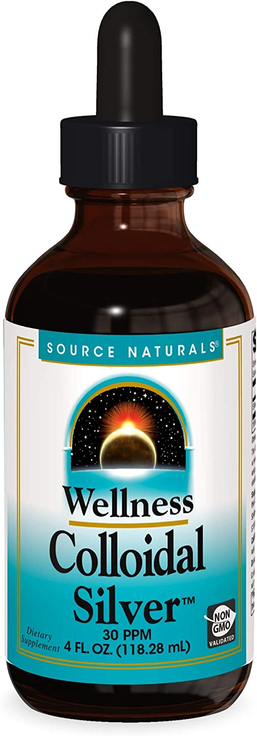 Source Naturals Wellness Colloidal Silver 30 ppm Supports Physical Well Being - 4 Fluid oz: Beauty