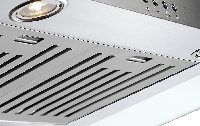 Amazon Com Ancona Tornado Ii Glass Canopy 600 Cfm Wall Mount Range Hood 36 Inch Appliances
