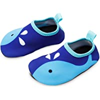 Bigib Toddler Kids Swim Water Shoes Quick Dry Non-Slip Water Skin Barefoot Sports Shoes Aqua Socks for Boys Girls…