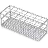 Stainless Steel Test Tube Rack, 16/18mm, 24 Place, Wire Constructed, Karter Scientific 234K3 (Single)