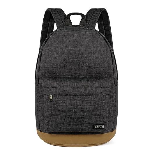 d03754ab3d9 ThiKin Unisex Classic Travel Laptop Backpacks College School Bags Bookbag  Black