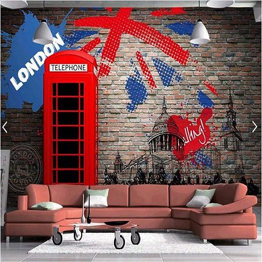 Weaeo Europeo Retro Londres Teléfono Rojo Cabina De Salpicaduras ...