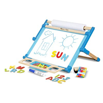 Melissa & Doug Double-Sided Tabletop Easel: Toys & Games
