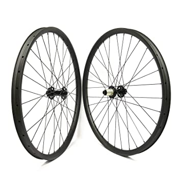 FidgetGear 29er Ruedas de Carbono para Bicicleta de montaña, 35 mm de Ancho, sin