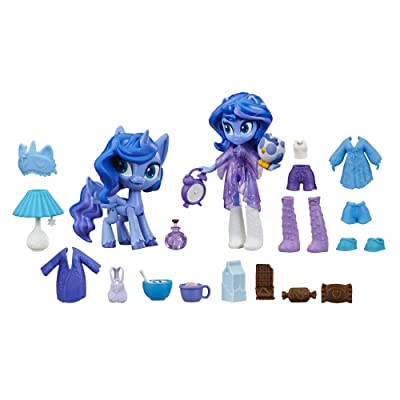 "My Little Pony Equestria Girls Princess Luna Potion Princess -- 3"" Mini Doll & Pony Toy with 20 Accessories: Toys & Games"
