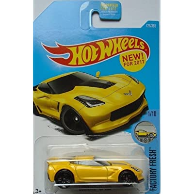 Hot Wheels 2020 Factory Fresh Corvette C7 Z06 128/365, Yellow: Toys & Games