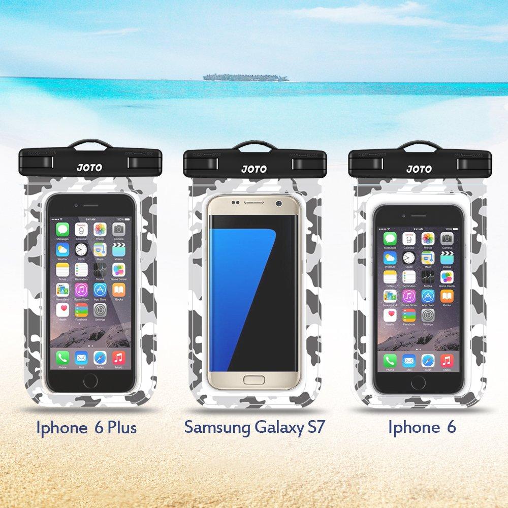 Sacchetto Subacqueo per iPhone X 8 7//6S SE 5S 5 7 Fino a 6,0 Diagonal -Bianca IPX8 Certificato JOTO Custodia Impermeabile Universale di Qualit/à Samsung Galaxy S8 S7 S6 Huawei P8 P10 P20 HTC LG ecc