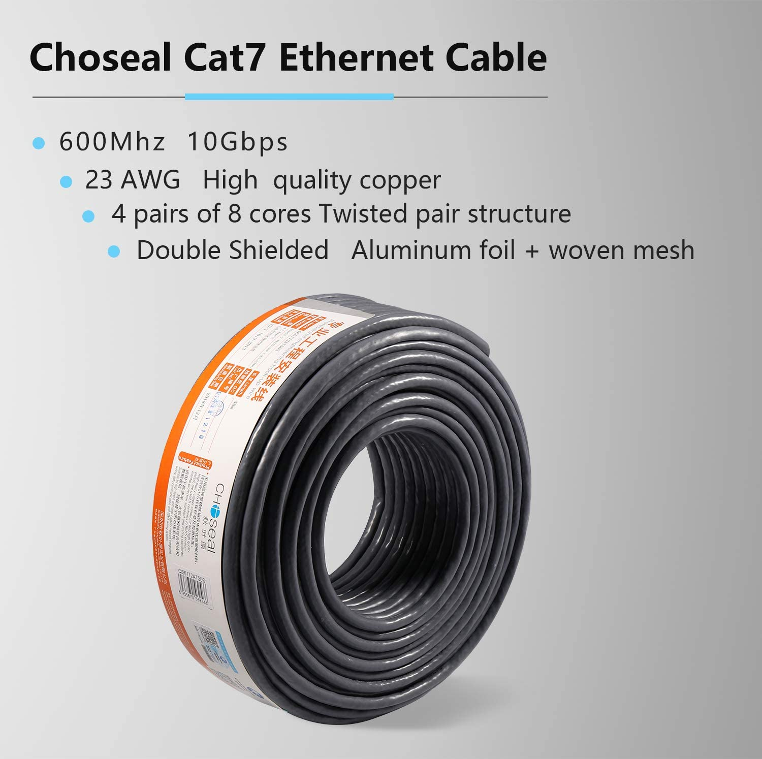 Length CHENZHIQIANG Network Accessories LAN Cable Tools CAT7 Gold Plated Dual Shielded Full Copper LAN Network Cable 5m