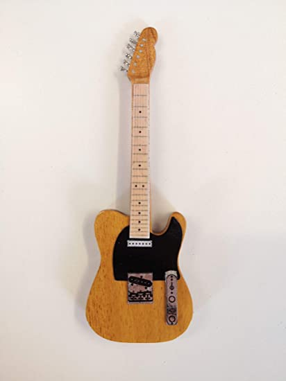 Guitarra imanes: Bruce Springsteen Telecaster, color amarillo ...