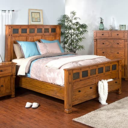Amazon Sunny Designs 48ROEK Sedona Eastern Bed King Awesome Sunny Designs Bedroom Furniture