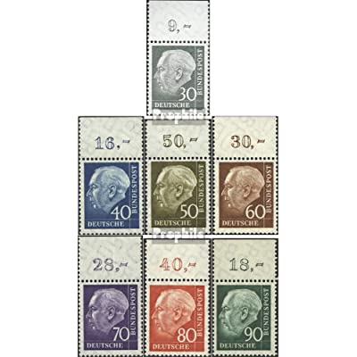 RFA (FR.Allemagne) 259x or-265x or pièce de la marge superieure (complète.Edition.) 1958 heuss (Timbres pour les collectionneurs)