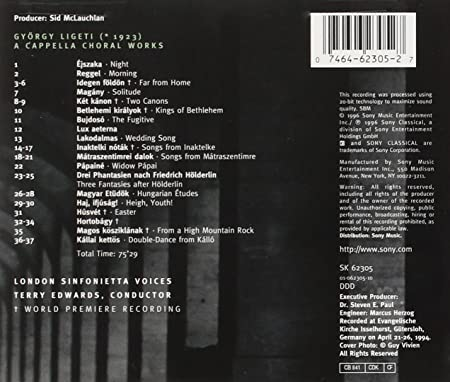 György Ligeti Edition 2: A Cappella Choral Works - London Sinfonietta Voices