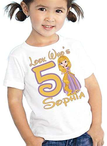 Image Unavailable Not Available For Color Birthday Shirt Princess Rapunzel Personalized